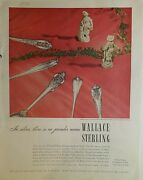 1947 Wallace Sterling Silver Grand Colonial Rosepoint Stradivari Patterns Ad