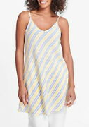Flax Designs  Cami Tunic S And M And L Nwot Summer Stripe