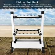 12 Fishing Rods Pole Holder Universal Rod Rack Alloy Portable Stand Storage Tool