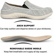 Slip On Shoes For Men Plantar Fasciitis Canvas Loafer Shoes With Arch Support