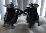 Silver Plate Chocolate / Water Pots Walker And Hall