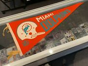 1967 Miami Dolphins Full Size Mlb Pennant Nice Ex/mt