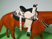 Hand Crafted Vintage Parade Leather Saddle Traditional Breyer Horse/peter Stone