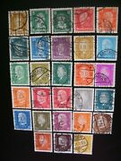 Germany 1926-36-scott 366-84 415-31 Total Of 50 Stamps Used