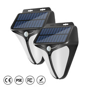 2 Solar Led Lights Wireless Security Lighting For Patio Garden Porch Pathway
