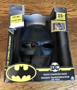 Batman Dc Voice Changing Mask 15+ Phrases Bat-tech Spin Master In Box