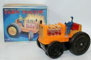Vintage Battery Op Farm Tractor Toy With Light-up Pistons, Horikawa Sh, Japan