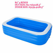 82 X 63 For Adult Spas For Kids Garden Pool Square Swimming Pool Padding Pool