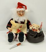 Rare Vintage Telco Motion-ettes Sitting Worker Christmas Elf W/box Animated