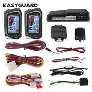 Easyguard Car Alarm System 2 Way Remote Start Lcd Pager Display Vibration Best