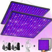 Seametal 2-pack Led Grow Light 45w Indoor Plant Grow Lamps Red And Blue Full Spe