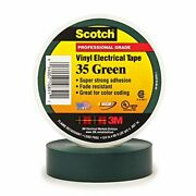 3m 35 Electrical Tape 7 Mil 3/4 X 66and039 Pack Of 100 - Green