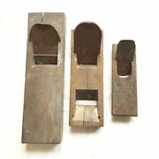 Kanna Japanese Lots Of 3 Vintage Plane Carpentry Woodworking Tool 32mm62mm F