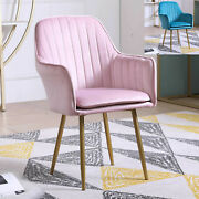Modern Lounge Chair Accent Dining Side Chairs Velvet Armchair Pinkblue