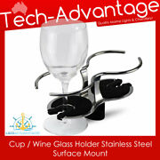 Premium Boat Caravan Yacht Cup/wine Glass Holder Stainless Steel Surface Mount