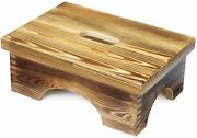 Ecrocy Wooden Bedside Step Stool Indoor And Outdoor Mobility Step Stool
