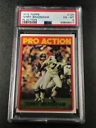 Terry Bradshaw 1972 Topps 120 Pro Action Vintage Card Rookie Psa 6 Steelers