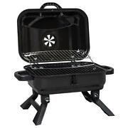 Portable Tabletop Charcoal Grill Bbq Camping Smoker With Lid For Bbq Camping