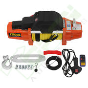 New 12000lbs Electric Winch For Truck Trailer Pickup Suv Wireless Remote