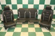 18and039 Camaro Ss Coupe Issues Black Leather Heat Cool Power Bucket Seats Backseat