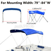 600d Bimini Top Boat Roof Canvas Cover 3 Bow 79-84 Cover 6ft L W Boot No