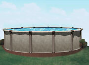 24 Round Above Ground Resin Swimming Pool 40 Yr Warranty Patriot Pool
