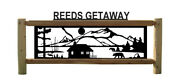 Personalized Bear Sign - Lakes And Cabins - Rustic Log Decor - Outdoor Signs