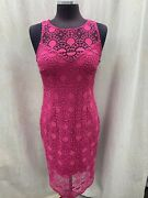 Adrianna Papell Dress/retail129/size 6/lined/new With Tag/length 40/lace