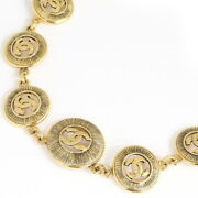 Necklace Coco Mark Goldcoloured Vintage Accessory Choker No.7923