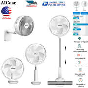 Portable Fan 7 Rechargeable Usb Oscillating Clip Stand Cooling Air 3-speed Fans