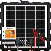 Powoxi-upgraded-20w-solar-battery-charger-maintainer, External Smart 3-stages Pw