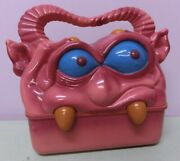 Rare My Pet Monster 1992 Lunch Box Talking 30cm Pam&frank Pink Container