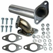 Stainless Tube Outlet Dump Pipe + Elbow Pipe For 35mm/38mm External Wastegate