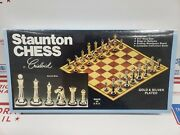 Vintage Staunton Chess Gold And Silver Plated Made In U.s.a By. Crisloid