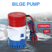 1100gph 12v Electric Marine Submersible Bilge Sump Water Pump For Boat Yacht New
