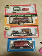Ho Scale Life-like Clyde Beauty Circus Cars And Caboose
