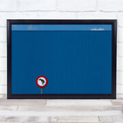 No Dogs Wall Blue Facade Lines Sign Dog Prohibition Art Print