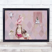 All You Need Is Love Pink Puppy Spoiled Indulged Girl Wall Art Print