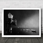The Origami Still Life Grinder Grind Boats Boat Ships Wall Art Print