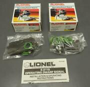 Set 2 Lionel O And O27 Gauge Operating Dwarf Signals 6-2115 New In Box