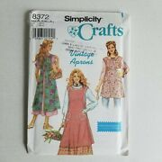 Simplicity 8372 Vintage Apron Sewing Pattern Heigl And Nordstrom S-xl 10-24 Uncut