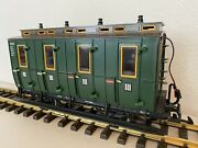 Lgb 3050 Third Class Compartment Coach W/lights And Metal Wheels G-scale • 4
