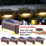 Outdoor Solar Powered Deck Lights For Fence Patio Pool Stairs Step Pathway Lamps