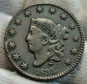 1833 Penny Coronet Large Cent - Nice Coin, Free Shipping 9567