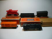 Lionel Postwar Electric Scout Steam Engine 1110 Freight Train Set With Boxes