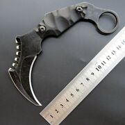 D2 Tactical Combat Karambit Fixed Blade Knives Hunting Survival Knifes W/sheath