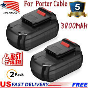 2pack Upgraded 3.8ah 18v Battery For Porter Cable Pc18b-2 18-volt Cordless Tools