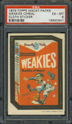 1973 Topps Wacky Packages Cloth Stickers Weakies Cereal Psa 6