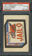 1973 Topps Wacky Packages Cloth Stickers Jail-o Dessert Psa 6