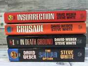 4 Starfire Series Insurrection, Crusade, In Death Ground, The Sh By David Weber